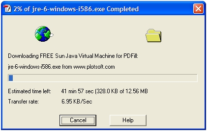 free sun java virtual machine for pdfill